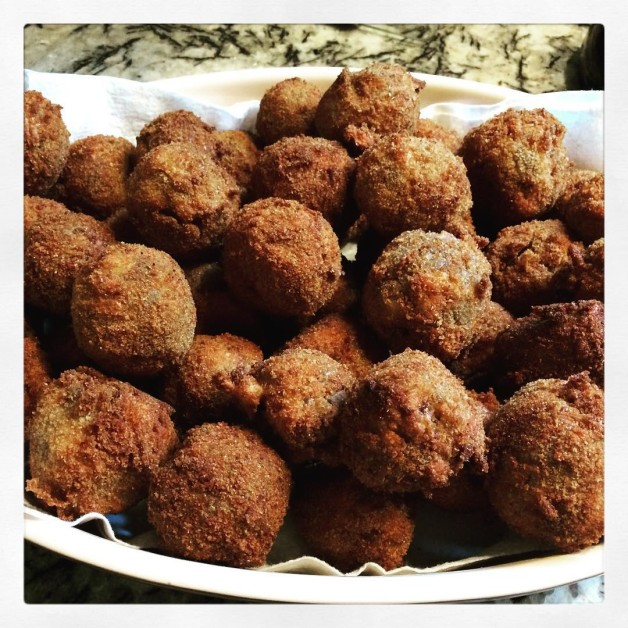 Theres no such thing as too many fried stuffing ballshellip