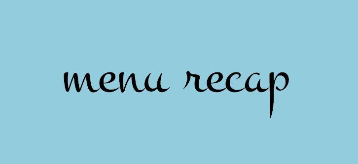 menu recap blue