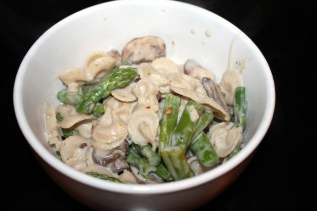 Meatless Monday: Boursin-Cream Bowties with Asparagus & Portobellos