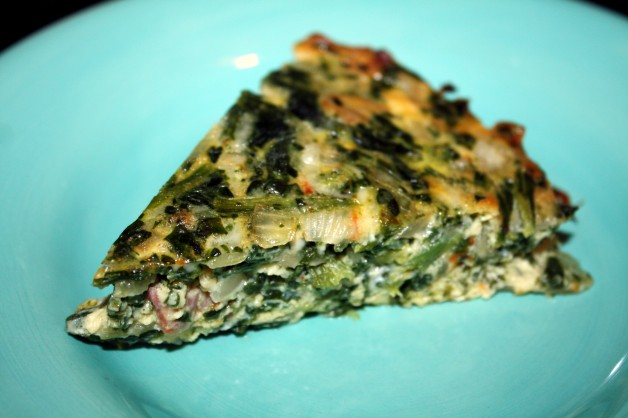 crustless quiche with spinach & bacon