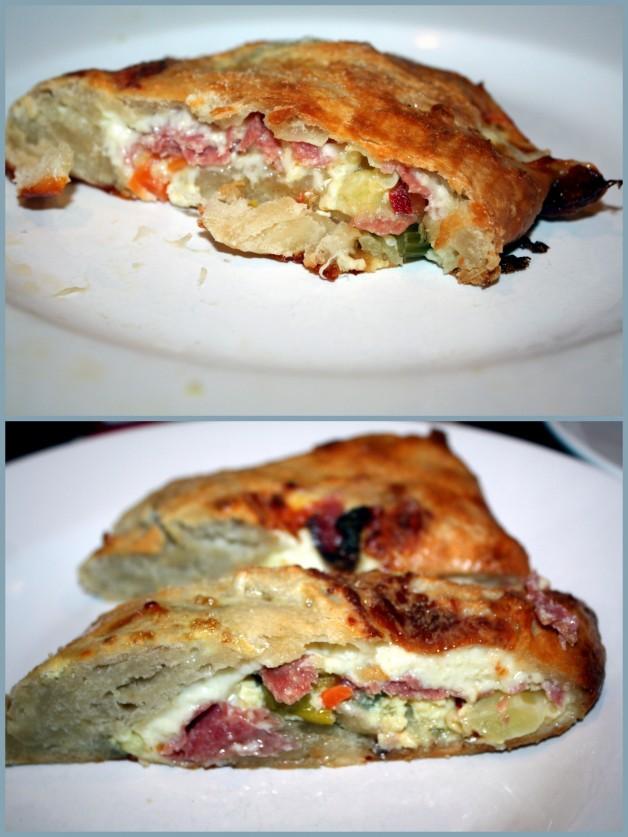 salami & mozzarella calzone