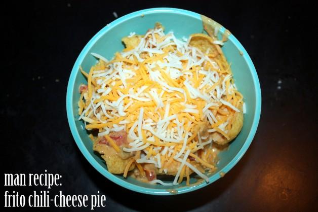 man-recipe: frito chili-cheese pie