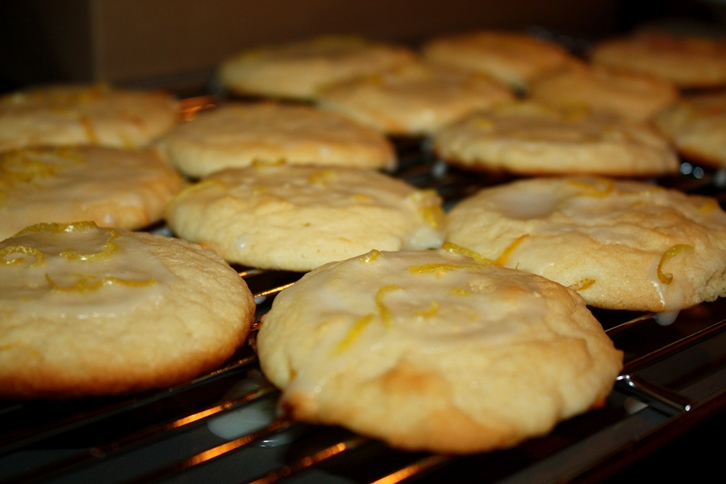 lemon cookies with lemon glaze