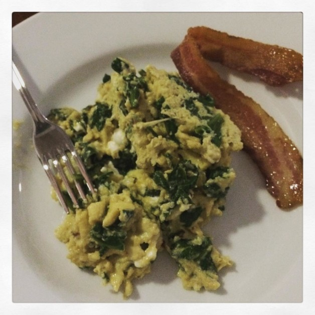 spinach amp goat cheese scrambled eggs  staycationing has itshellip