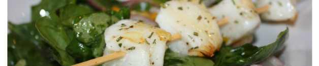 rosemary swordfish skewers