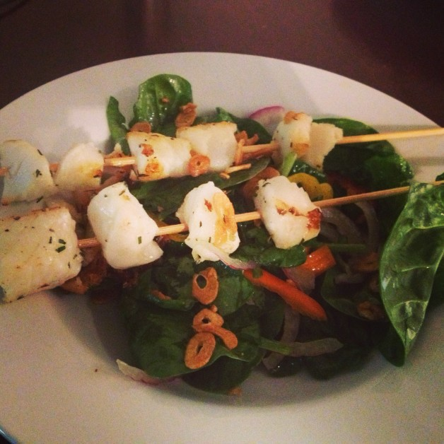 swordfish skewers