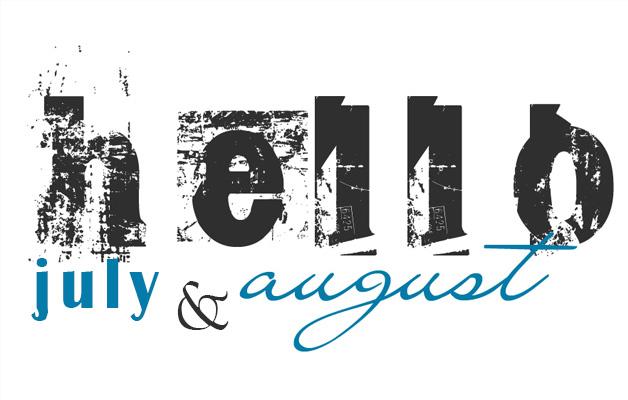 july august menu