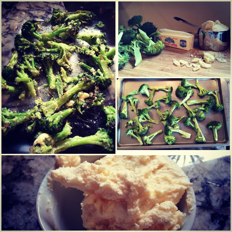 roasted garlic-parmigiano broccoli