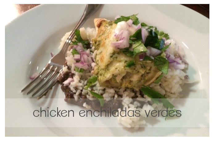 chicken enchiladas verdes